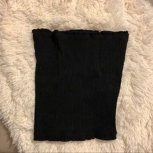 Black Ribbed Tube Top